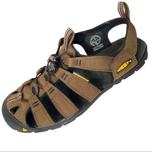 Keen Clearwater CNX Brown Fabric/Suede Sandals 8